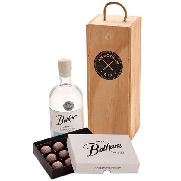 Gin Gifts Sir Ian Botham Gin box truffles offer