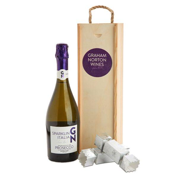 Wine Gifts Graham Norton PROSECCO-CRACKER-BOX offer