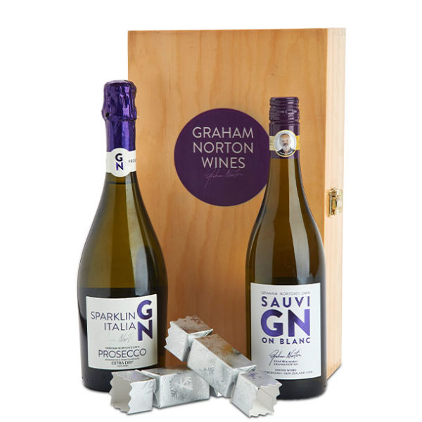 Wine Gifts GN Sav Blanc box and Prosecco with chocolates