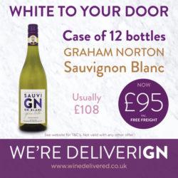 Graham Norton 12 bottle Sauvignon wine case offer