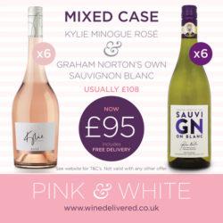Kylie Minogue Rose & Graham Norton Sauvignon Blanc offer