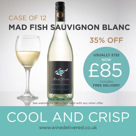 MadFish Sav Blanc offer FREE Online Wine Delivered