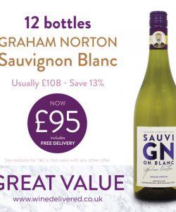 Graham Norton Sav Blanc offer FREE Online Wine Delivered