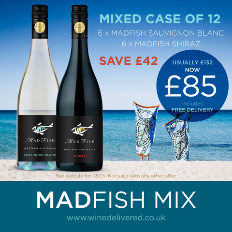 Mad Fish Sauvignon Blanc and Shiraz