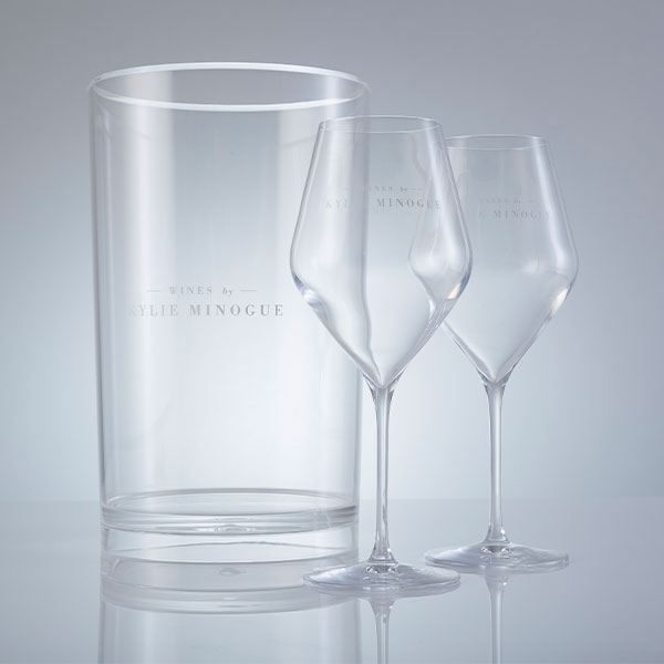 Kylie Ice Bucket and Wine Glasses