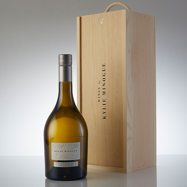 Kylie Minogue Chardonnay in a Wooden Gift Box