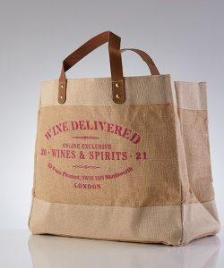 Wine Delivered bag Pink