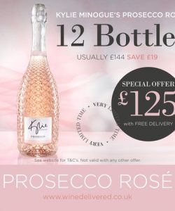 Kylie Prosecco Rosé Offer