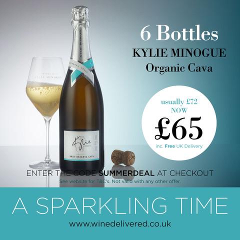 Kylie Minogue Cava Special offer