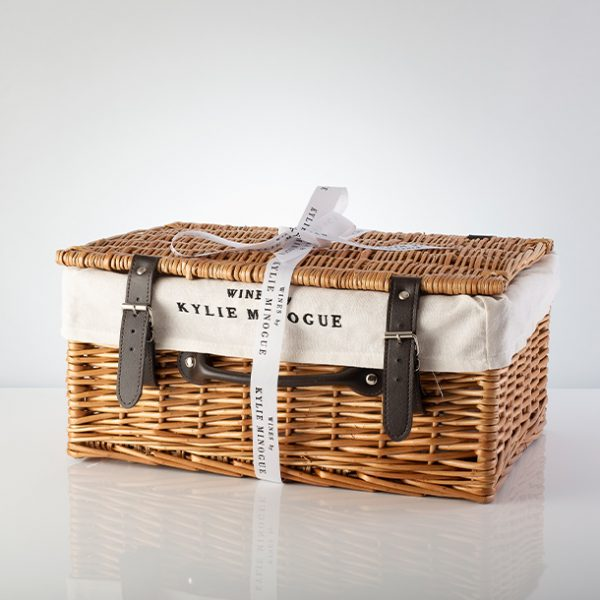 Hamper with bow